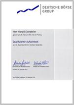Zertifikat Qualifizierter Aufsichtsrat