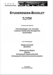 Booklet mit Studierendenprofilen