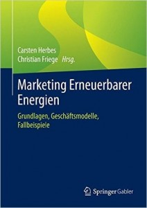 Buchcover Marketing Erneuerbarer Energien mit dem Kapitel Social Media im Grünstrommarketing