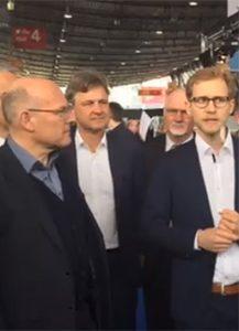 Minister Herrmann eröffnet Messe für Elektromobilität iMobility 2017