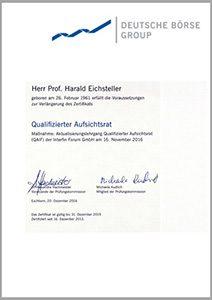 Zertifikat Qualifizierter Aufsichtsrat verlängert